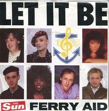 "FERRY AID ""Let it be"" (Vinyle 45t / SP) 1987 Paul McCartney, Boy George, Taffy"