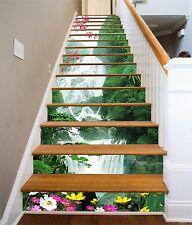 3D Flower falls Stair Risers Decoration Photo Mural Vinyl Decal Wallpaper AU