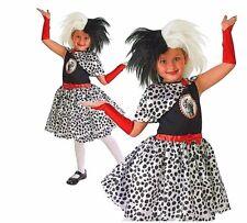 Enfant 101 dalmatien cruel la de Ville Déguisement Fille 3-8 ANS Dalmatio