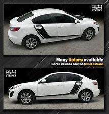 Mazda 3 Rally Racing Side Hockey Door Stripes Decals 2009 2010 2011 2012 2013