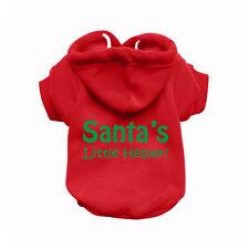SANTAS HELPER Red Dog Sweatshirt Hoodie - Dog Sweater - Dog Jumper  Dog Clothing