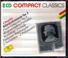 ARGERICH CHERKASSKY ESCHENBACH VASARY ABBADO CHOPIN Klavierkonzert Nr.1 DG 2CD