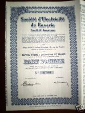 Société d Electricité de Rosario SA 1947 share certifate   Argentina