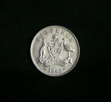 1962 Sixpence Australia Silver World Coin KM58 George VI 6 Pence Kangaroo Emu
