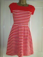 46887b05d1fb French Connection Nautical Red   White Stripe Mini Dress sizes UK 4 6 ...