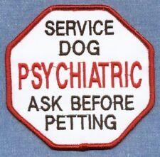 PSYCHIATRIC SERVICE DOG ASK BEFORE PETTING ------ service dog vest patch ------