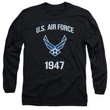Property Of U.S. Air Force Long Sleeve Shirt Licensed Military USA America Black