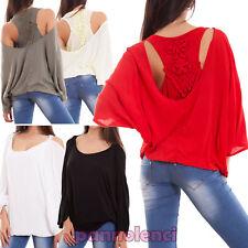 Suéter mujer maxi camiseta doble cuello espalda remero bordado nueva CJ-2201