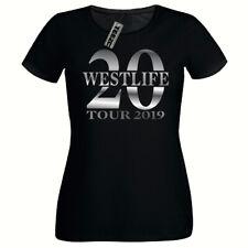 Westlife 20 Tour tshirt, Ladies Fitted tee shirt,Silver Slogan Westlife t-shirt