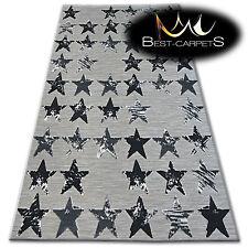 Lisbonne style Tapis moderne noir étoiles 'LISBOA' BEAU TISSAGE TAPIS