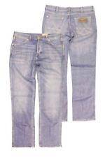 WRANGLER PER EXTRA ALTI ASSO Stretch Chiaro Slavato Jeans Blu ( verde lime)