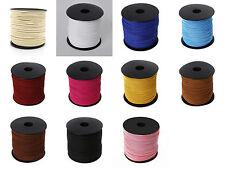 2m ou 5m Cordon Faux suede 3mm couleur au choix, suédé, cordon cuir suede