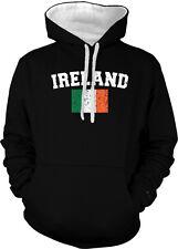 Ireland Country Flag Irish Eire Pride Football Soccer 2-tone Hoodie Pullover