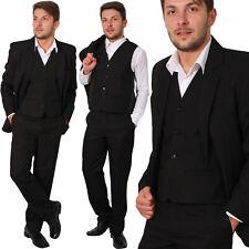 H10 Regular Herren Anzug 3Teiler Sakko Hose Weste Büro Business Hochzeit