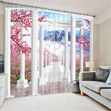 Plum Blossom Gallery 3D Blockout Photo Mural Printing Curtain Drap Fabric Window