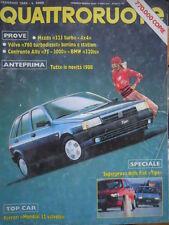 Quattroruote 388 1988 Ferrari Mondial32vv,Volvo760.Inserto Nissan Vanette Coach