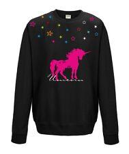 Sudadera Suéter De Mujer Unicorn estrellas Einhorn Stars Unicorn Multicolor