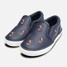 Navy Blue Ralph Lauren Polo Bal Harbour Childrens Shoe