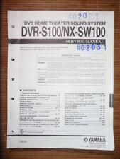 Service Manual Yamaha DVR-S100/NX-SW100 Sound System