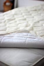 Merino cashmere caro laine & coton sous couverture surmatelas pads Woolamrked