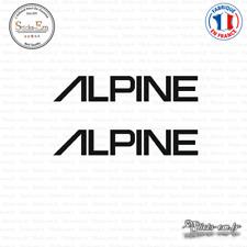 2 Stickers Alpine Logo Decal Aufkleber Pegatinas ALPI02 Couleurs au choix
