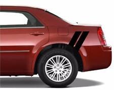 "Chrysler 300 Rear 4"" Fender Double Hash Bar vinyl RACING STRIPES Rally Decals"