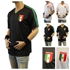Men's Mexico Soccer Jersey T-Shirt Fashion Causal Sports Short Sleeve V-Neck Tee