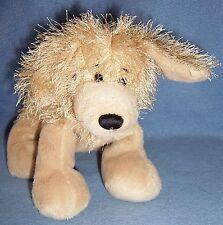 """crazy long hair GANZ Golden Retriever PLUSH PUPPY DOG soft stuffed 8"""" ear up HUG"""