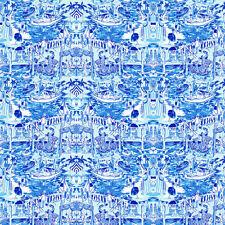 "Toile Blue Lilly Vinyl HTV, sheet size 12""x12"", printed craft vinyl"