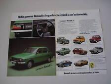 advertising Pubblicità 1975 RENAULT 12 TS
