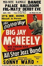 AZ86 Vintage Big Jay Mcneely Rock & Roll Concert Advertisement Poster A3/A4
