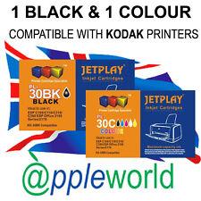 1 Set of Kodak negro y color Cartuchos de Tinta kd-30bk/kd-30c XL compatible con