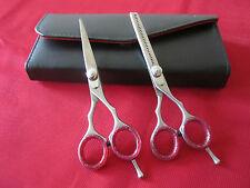 14cm Barbiere + Forbici per sfoltire forbici + Free Custodia in pelle
