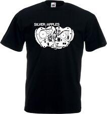 PLATA manzanas Camiseta - Psicodélico electrónica,NYC,AÑOS 60 ,Varias Tallas /