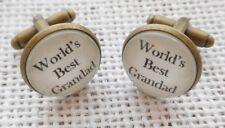 World's Best Grandad / Grandpa cufflinks. Custom option available.Christmas Gift