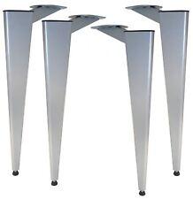 Triangle pied de table 705mm argent meuble cuisine Pieds de table
