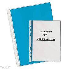A4 Prospekthülle Sichthülle Schutzhülle Dokumentenhülle Klarsichtfolie #