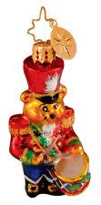 Radko 1013775 Teddy Bear Beat Gem - Teddy Bear & Drum - Retired Ornament