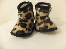 * Nuovo Baby Ocelot stivali con finta pelliccia / BOOTIES / carrozzina Scarpe TAGLIA 6-9,9 -12 & 12-15 MESI