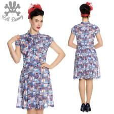 Hell Bunny Kullen Pinup Rockabillly day Tea Dress XL-4XL