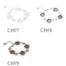 5Pcs 12MM Round Blank Setting Bezel Base Cabochon 4Pad Bracelet 12MM Round Disc