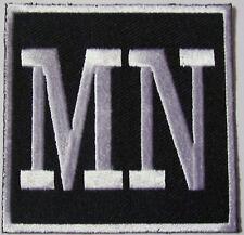 MN - MINNESOTA -  MOTORCYCLE VEST PATCH - WHITE AND BLACK