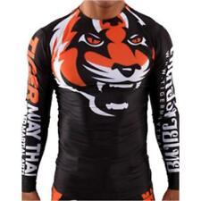 Mma Tiger Rash Guard Bjj Long Short Sleeve Compression Top Jiu Jitsu Muay Thai