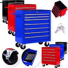 Masko® Chariot à outils Servante d'atelier rouge coffre malle rangement amovible
