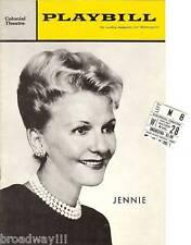 "Mary Martin ""JENNIE"" Dennis O'Keefe 1963 FLOP Tryout Playbill / Ticket Stub"