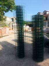 25mt RETE METALLICA VERDE PLAST. ELETTROSALDATA-MAGLIA 5x7,5cm-PER RECINZIONE