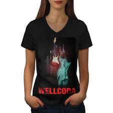 Liberty Guitar Wellcoda Women V-Neck T-shirt NEW | Wellcoda