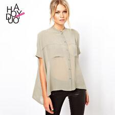 morbida maxi maglia camicia chiara beige corta estate  misto cotone  4714