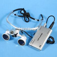 Dental Surgical 3.5x420mm Binocular Loupes Glasses w/ LED Head Light lampada UoS