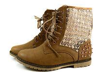 Elegante Damen Boots Sommer Stiefeletten Stiefel Gr.36-41 A.3-40 Khaki Feida